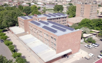solar power - Etchmiadzin Sport School - Roof mount solar power plant