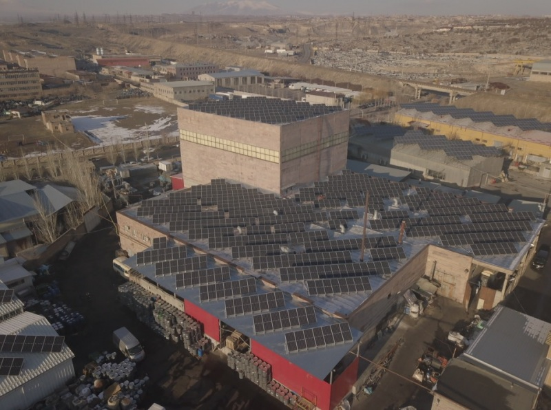 solar power - Sis Natural CJSC - Roof mount solar power plant